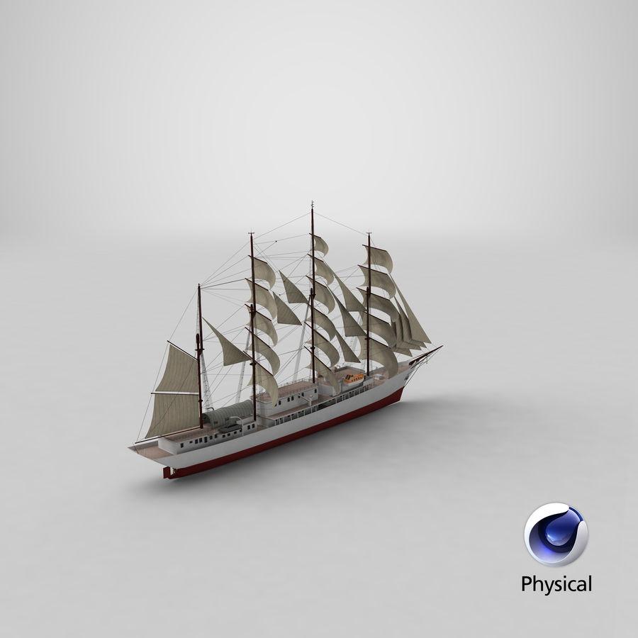 帆船快船 royalty-free 3d model - Preview no. 34