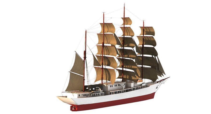 帆船快船 royalty-free 3d model - Preview no. 6