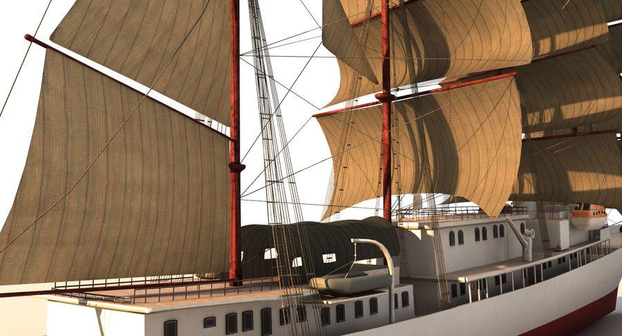 帆船快船 royalty-free 3d model - Preview no. 15