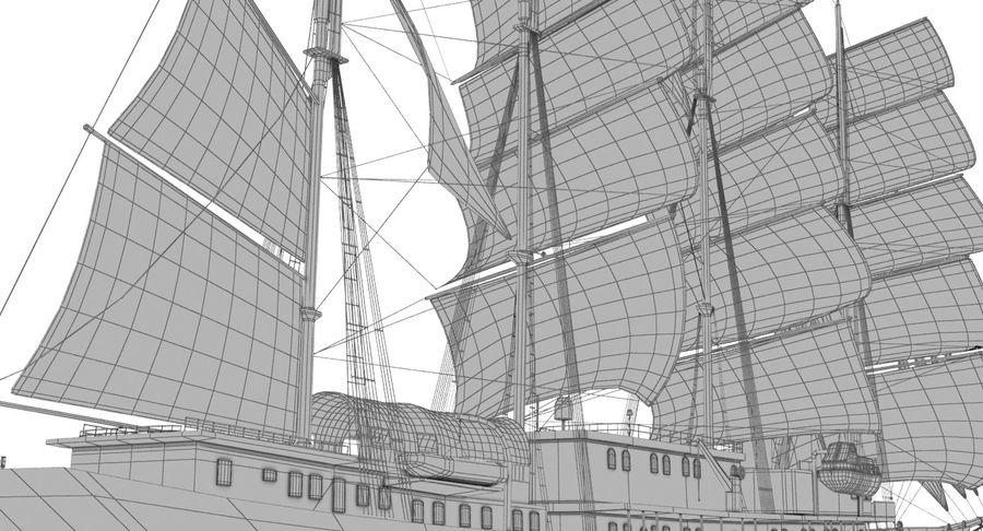 帆船快船 royalty-free 3d model - Preview no. 25