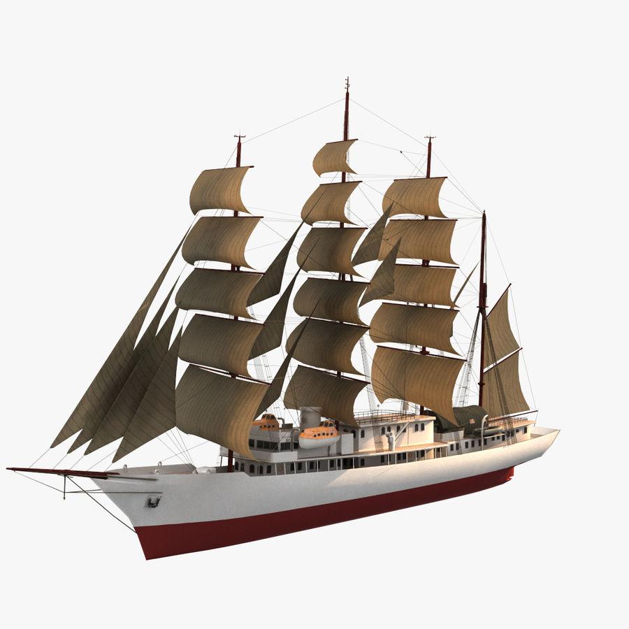 帆船快船 royalty-free 3d model - Preview no. 1