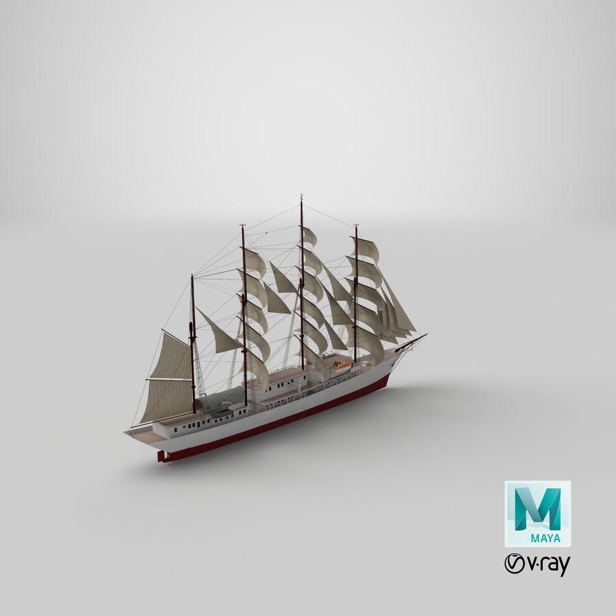 帆船快船 royalty-free 3d model - Preview no. 40