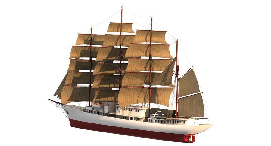 帆船快船 royalty-free 3d model - Preview no. 5