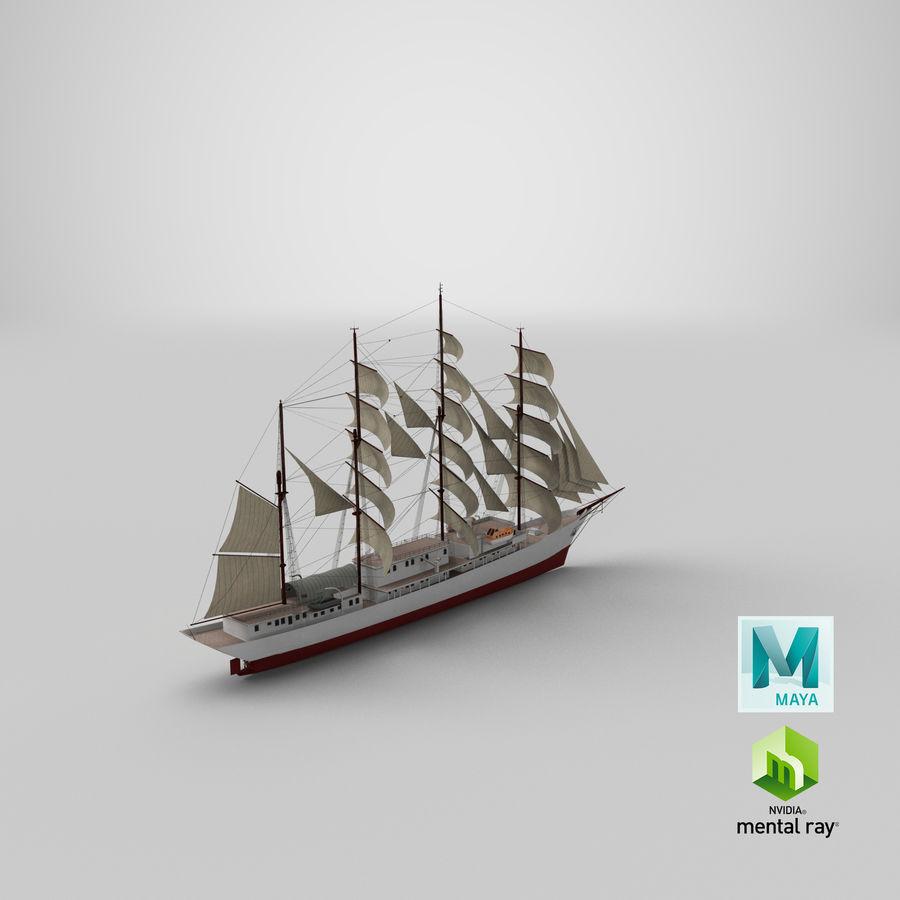 帆船快船 royalty-free 3d model - Preview no. 39