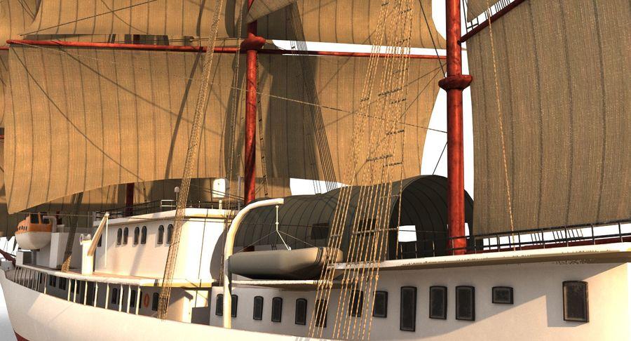 帆船快船 royalty-free 3d model - Preview no. 14