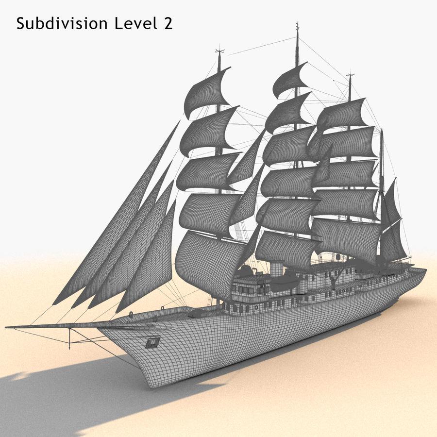 帆船快船 royalty-free 3d model - Preview no. 31
