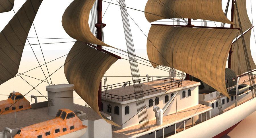 帆船快船 royalty-free 3d model - Preview no. 13