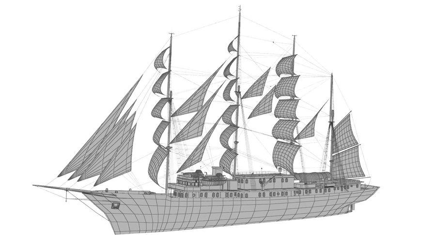 帆船快船 royalty-free 3d model - Preview no. 20