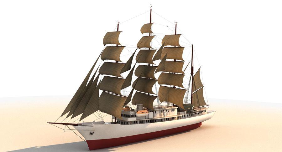 帆船快船 royalty-free 3d model - Preview no. 3