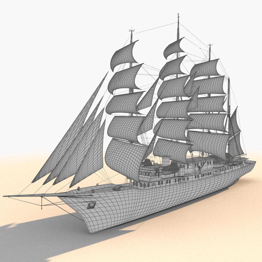 帆船快船 royalty-free 3d model - Preview no. 27