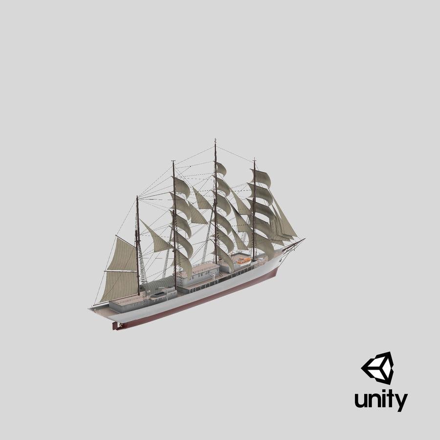 帆船快船 royalty-free 3d model - Preview no. 35