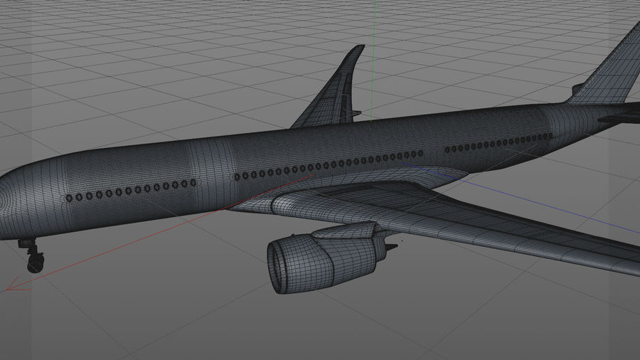 Airbus A350-900_KLM_L223 royalty-free 3d model - Preview no. 15
