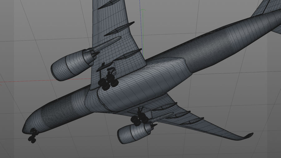 Airbus A350-900_KLM_L223 royalty-free 3d model - Preview no. 22