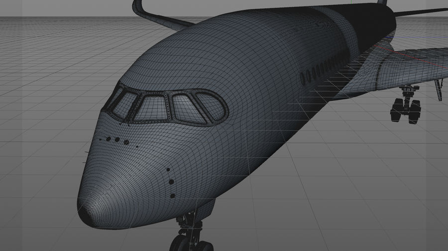 Airbus A350-900_KLM_L223 royalty-free 3d model - Preview no. 14