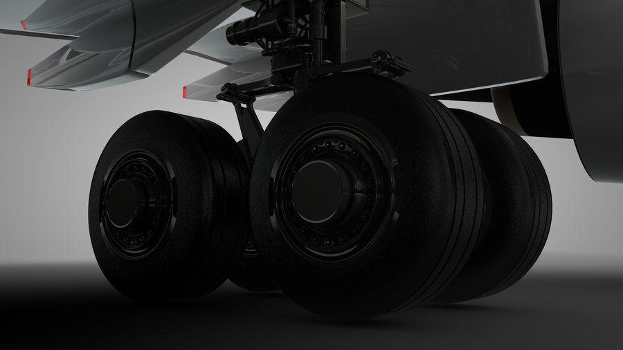 Airbus A350-900_KLM_L223 royalty-free 3d model - Preview no. 11