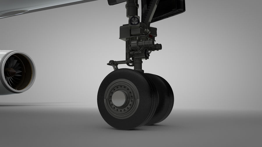 Airbus A350-900_KLM_L223 royalty-free 3d model - Preview no. 9