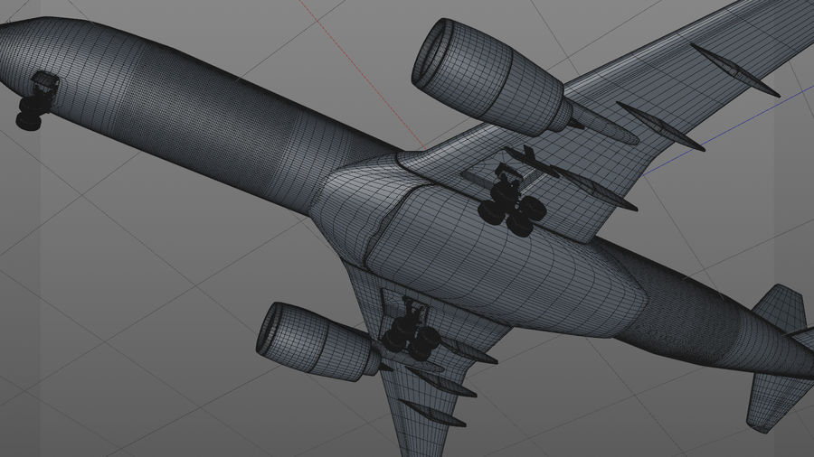 Airbus A350-900_KLM_L223 royalty-free 3d model - Preview no. 12