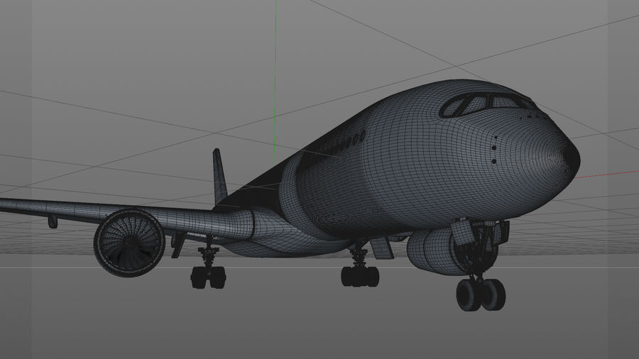 Airbus A350-900_KLM_L223 royalty-free 3d model - Preview no. 19