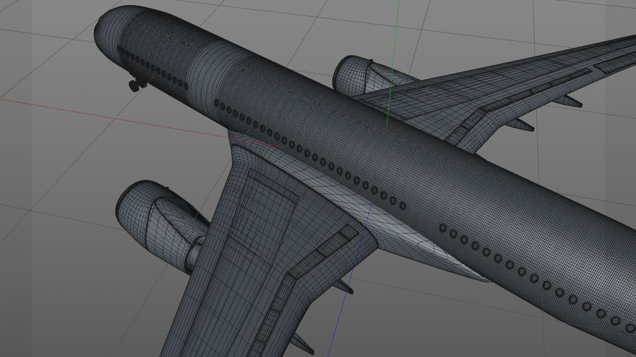Airbus A350-900_KLM_L223 royalty-free 3d model - Preview no. 21