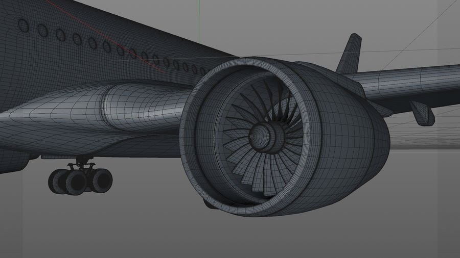 Airbus A350-900_KLM_L223 royalty-free 3d model - Preview no. 16