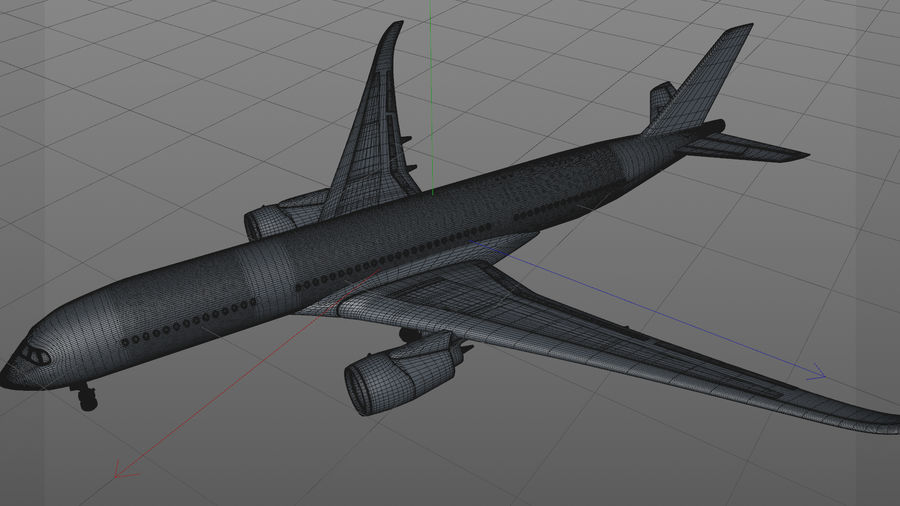 Airbus A350-900_KLM_L223 royalty-free 3d model - Preview no. 20
