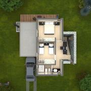 Maison de plan d'étage 3D 3d model