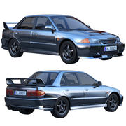 Evolução do Mitsubishi Lancer 3d model