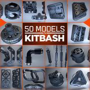 Kitbash 3D - 50 modèles 3d model