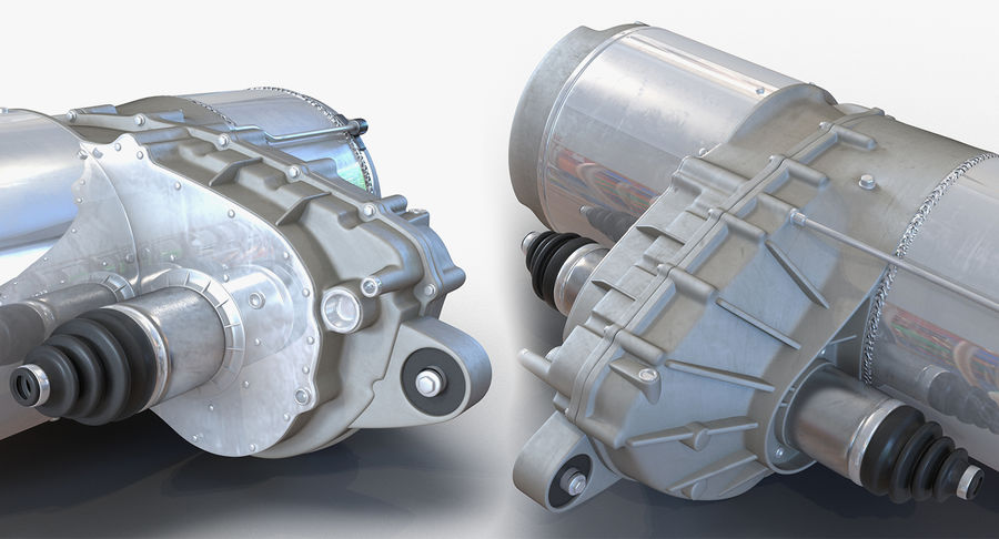Auto Electric Engines Collection royalty-free 3d model - Preview no. 14