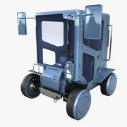 Cruzador urbano de ficção científica 3d model