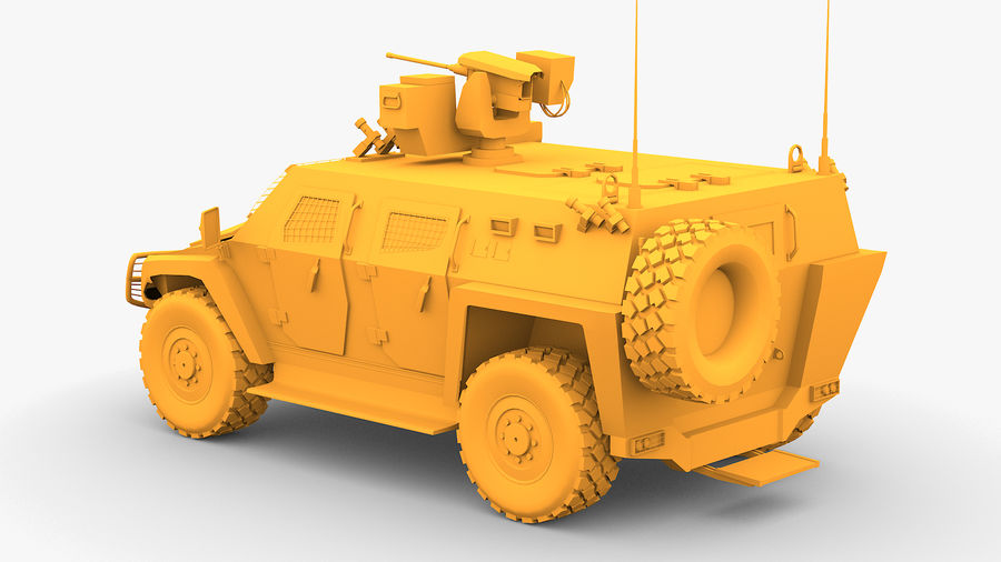 COBRA-2 Tactical Armored Vehicle Untextured royalty-free 3d model - Preview no. 3