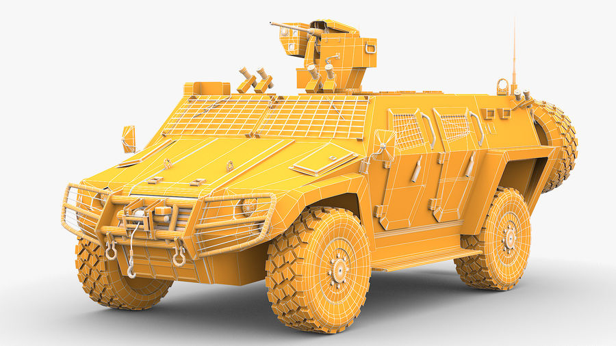 COBRA-2 Tactical Armored Vehicle Untextured royalty-free 3d model - Preview no. 2