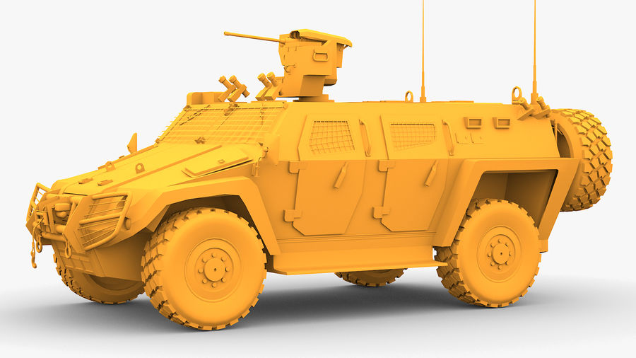 COBRA-2 Tactical Armored Vehicle Untextured royalty-free 3d model - Preview no. 4