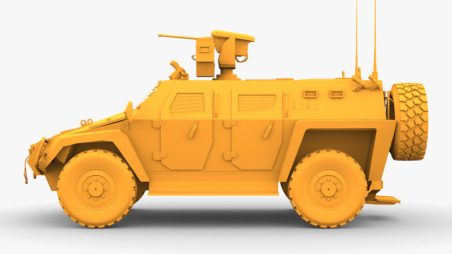 COBRA-2 Tactical Armored Vehicle Untextured royalty-free 3d model - Preview no. 5