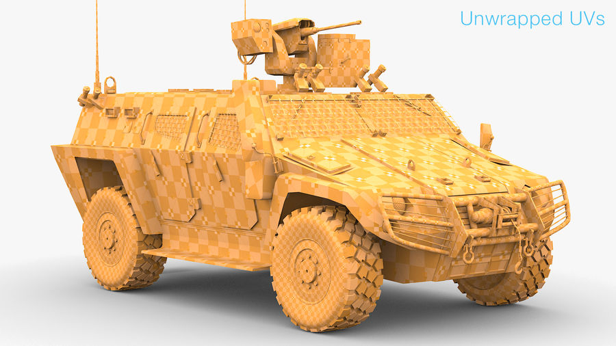 COBRA-2 Tactical Armored Vehicle Untextured royalty-free 3d model - Preview no. 7