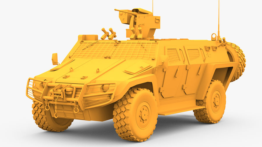COBRA-2 Tactical Armored Vehicle Untextured royalty-free 3d model - Preview no. 1