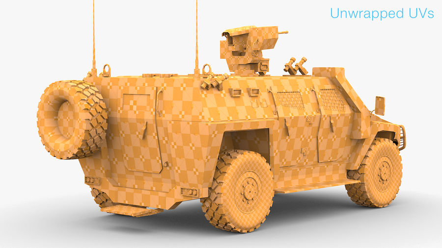 COBRA-2 Tactical Armored Vehicle Untextured royalty-free 3d model - Preview no. 8