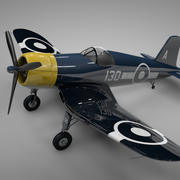 F4U Corsair Vought Großbritannien 130 L242 3d model
