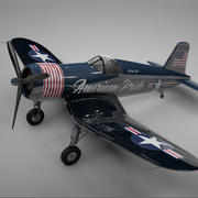 F4U Corsair Vought USA Amerikanischer Stolz L240 3d model