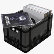 상자와 비닐 레코드 3d model