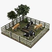 Коровья ферма 3d model