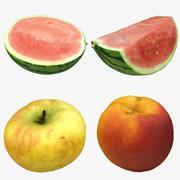 Kolekcja owoców 02 3d model