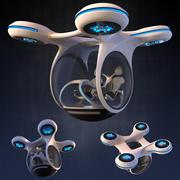 Toekomstige drone 3d model