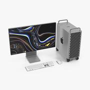Набор Mac Pro Wheels 2019 3d model