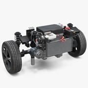 Nissan Leaf Engine och Front Suspension 3d model