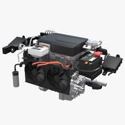 Motor de carro elétrico 3d model