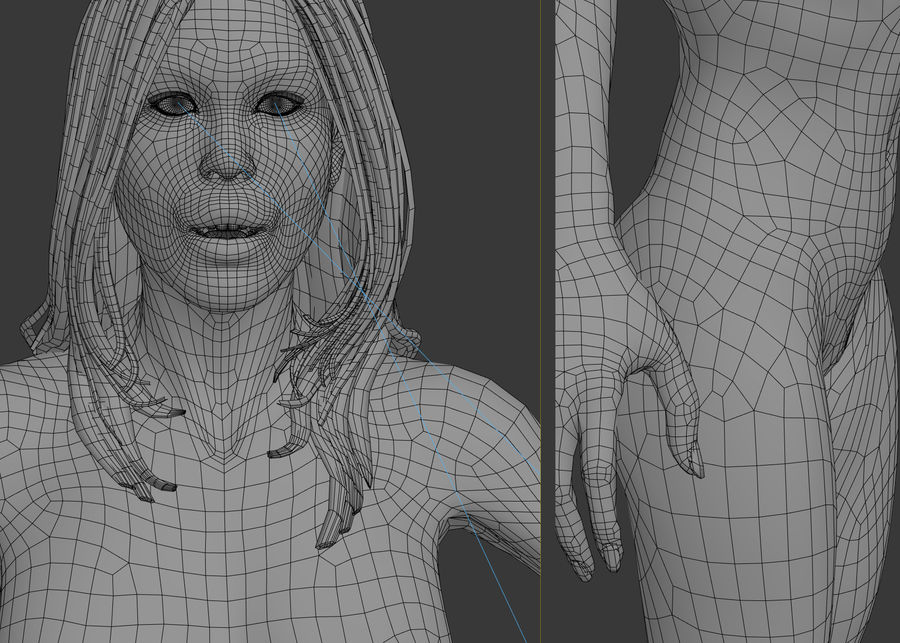 人类女性 royalty-free 3d model - Preview no. 12