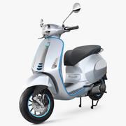 Vespa Elettrica 2019 Scooter Rigged 3d model