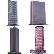 Skyscrapers Collection B 3d model