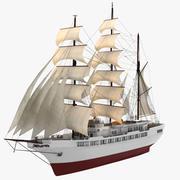 阿戈斯快船帆船 3d model